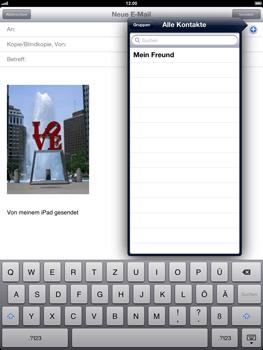 Apple iPad 4 - E-Mail - E-Mail versenden - Schritt 7