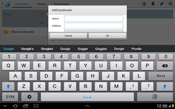 Samsung N8000 Galaxy Note 10-1 - Internet - Internet browsing - Step 5