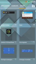 Alcatel One Touch Idol Mini - Operazioni iniziali - Installazione di widget e applicazioni nella schermata iniziale - Fase 4
