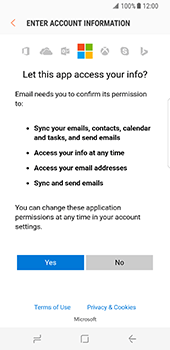 Samsung Galaxy S8 - E-mail - 032c. Email wizard - Outlook - Step 9