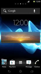 Sony Xperia T - Operazioni iniziali - Installazione di widget e applicazioni nella schermata iniziale - Fase 7