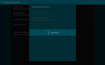 Samsung T805 Galaxy Tab S - Network - Manual network selection - Step 7