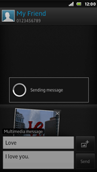 Sony ST25i Xperia U - MMS - Sending pictures - Step 15