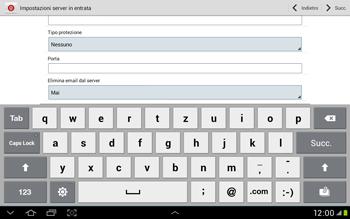 Samsung Galaxy Tab 2 10.1 - E-mail - Configurazione manuale - Fase 9