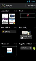 ZTE Blade III - Startanleitung - Installieren von Widgets und Apps auf der Startseite - Schritt 4