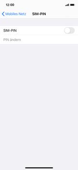 Apple iPhone X - iOS 14 - Startanleitung - So aktivieren Sie eine SIM-PIN - Schritt 5