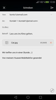 Huawei Mate S - E-Mail - E-Mail versenden - Schritt 15