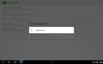 Samsung Galaxy Tab 2 10.1 - Réseau - Sélection manuelle du réseau - Étape 7