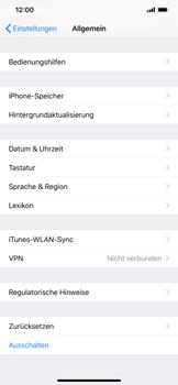 Apple iPhone XS Max - Fehlerbehebung - Handy zurücksetzen - Schritt 6