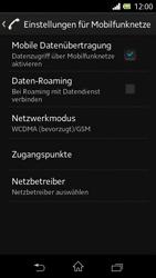 Sony Xperia L - Netzwerk - Netzwerkeinstellungen ändern - 2 / 2