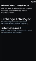 Samsung I8350 Omnia W - E-mail - Handmatig instellen - Stap 9