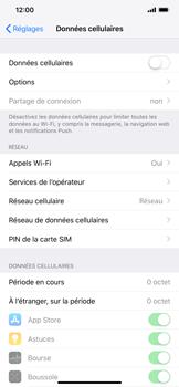 Apple iPhone XS Max - Internet et roaming de données - Comment vérifier que la connexion des données est activée - Étape 4