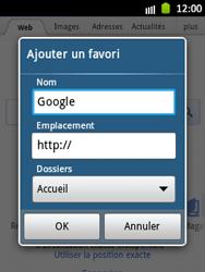 Samsung S5300 Galaxy Pocket - Internet - navigation sur Internet - Étape 5
