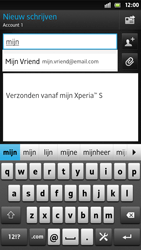 Sony LT26i Xperia S - E-mail - E-mail versturen - Stap 6