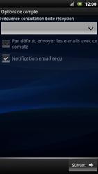 Sony Xperia Neo - E-mail - Configuration manuelle - Étape 9