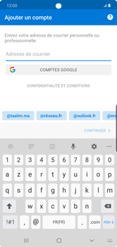 Samsung Galaxy Note 10 Plus 5G - E-mail - 032c. Email wizard - Outlook - Étape 7