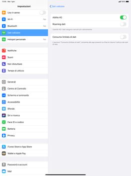 Apple iPad Pro 12.9 (1st gen) - ipados 13 - Rete - Come attivare la connessione di rete 4G - Fase 6