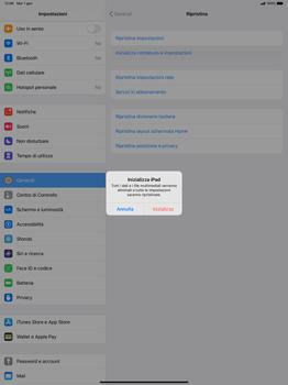 Apple iPad Pro 12.9 (1st gen) - ipados 13 - Dispositivo - Ripristino delle impostazioni originali - Fase 7