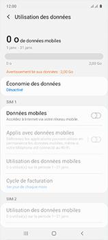 Samsung Galaxy A51 - Internet et roaming de données - Comment vérifier que la connexion des données est activée - Étape 6