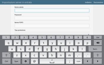 Samsung T805 Galaxy Tab S - E-mail - configurazione manuale - Fase 8