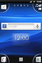 Sony Xperia Mini Pro - Internet - Voorbeelden van mobiele sites - Stap 1