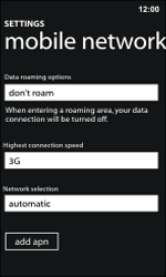 Nokia Lumia 800 / Lumia 900 - Network - Manual network selection - Step 5