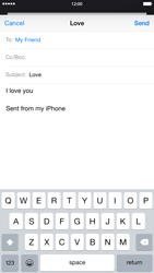 Apple iPhone 6 Plus - E-mail - Sending emails - Step 8