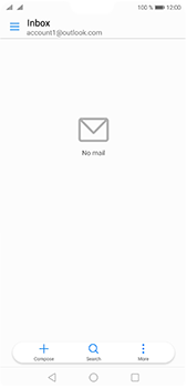 Huawei P20 Pro - E-mail - Manual configuration (outlook) - Step 3