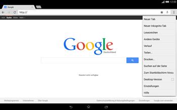 Sony Xperia Tablet Z2 LTE - Internet und Datenroaming - Verwenden des Internets - Schritt 10