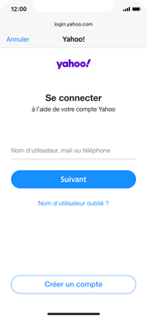 Apple iPhone 11 Pro - iOS 14 - E-mail - 032b. Email wizard - Yahoo - Étape 6