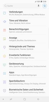 Samsung Galaxy Note9 - Netzwerk - Netzwerkeinstellungen ändern - Schritt 4