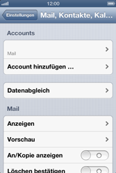 Apple iPhone 4 - E-Mail - Manuelle Konfiguration - Schritt 12