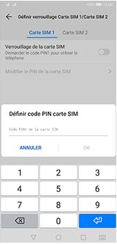 Huawei P20 Pro - Android Pie - Prise en main - Comment activer un code SIM - Étape 9