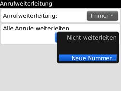 BlackBerry Bold - Anrufe - Rufumleitungen setzen und löschen - 8 / 12