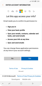 Samsung Galaxy S9 Plus - E-mail - 032c. Email wizard - Outlook - Step 8