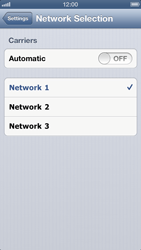Apple iPhone 5 - Network - Manual network selection - Step 6