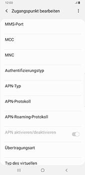 Samsung Galaxy S9 Plus - Android Pie - MMS - Manuelle Konfiguration - Schritt 12