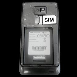 Samsung I9100 Galaxy S2 mit Android 4.1 - SIM-Karte - Einlegen - Schritt 3