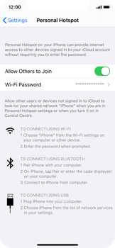 Apple iPhone XS - iOS 14 - WiFi - How to enable WiFi hotspot - Step 8