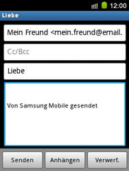 Samsung S5570 Galaxy Mini - E-Mail - E-Mail versenden - Schritt 9