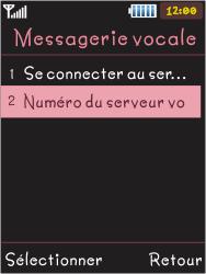 Samsung S5050 Allure S - Messagerie vocale - Configuration manuelle - Étape 6