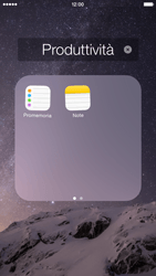 Apple iPhone 6 iOS 8 - Operazioni iniziali - Personalizzazione della schermata iniziale - Fase 5
