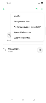 Oppo Find X2 Neo - Contact, Appels, SMS/MMS - Ajouter un contact - Étape 9