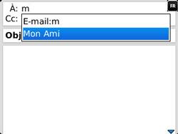 BlackBerry 9320 - E-mails - Envoyer un e-mail - Étape 6