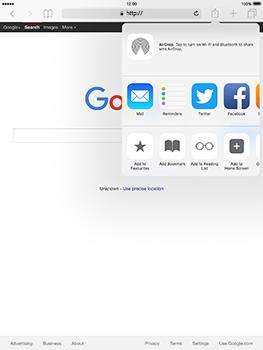 Apple iPad mini 4 iOS 10 - Internet - Internet browsing - Step 16