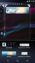 Sony Xperia Z1 - Getting started - Installing widgets and applications on your start screen - Step 6