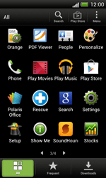 HTC One SV - Applications - Setting up the application store - Step 3