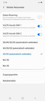 Samsung Galaxy Note 20 5G - Netzwerk - So aktivieren Sie eine 4G-Verbindung - Schritt 7