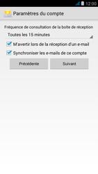 Wiko jimmy - E-mail - configuration manuelle - Étape 15