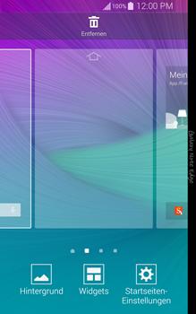 Samsung Galaxy Note Edge - Startanleitung - Installieren von Widgets und Apps auf der Startseite - Schritt 4